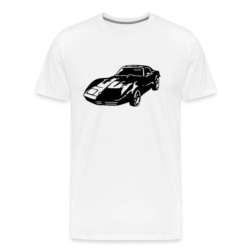 auto_80s_chevrolet_corvette_1c - Men's Premium T-Shirt