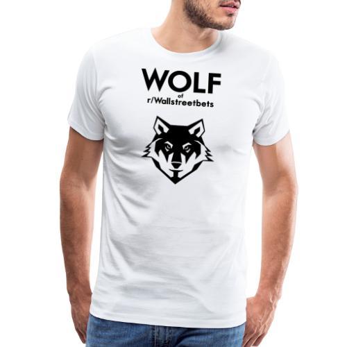 Wolf of Wallstreetbets - Men's Premium T-Shirt