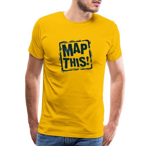 MapThis! Black Stamp Logo - Men's Premium T-Shirt