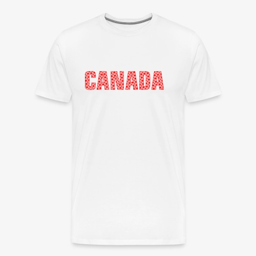 Canada Pattern-Filled Text Red - Men's Premium T-Shirt