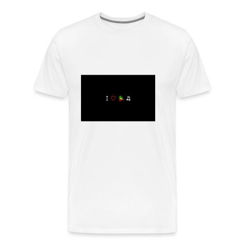 i love reggae music - Men's Premium T-Shirt