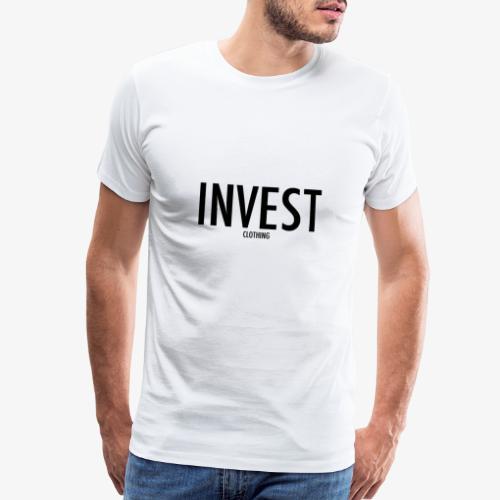 invest clothing black text - Men's Premium T-Shirt