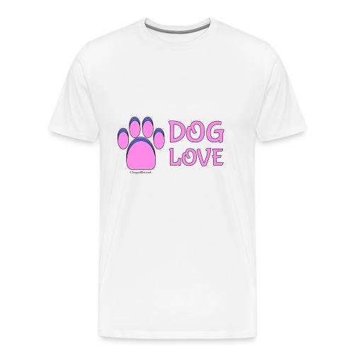 Pink Dog paw print Dog Love - Men's Premium T-Shirt