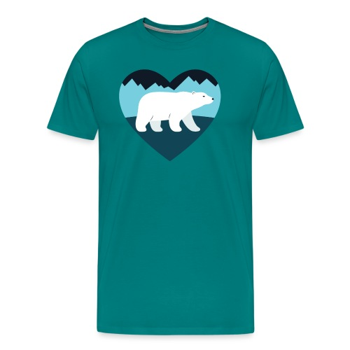 Polar Bear Love - Men's Premium T-Shirt