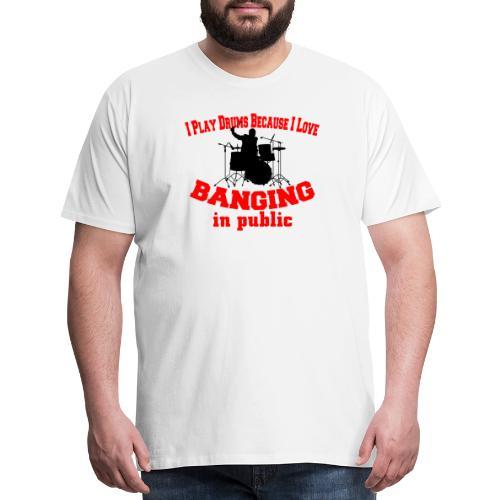 i play drums tshirt - Men's Premium T-Shirt