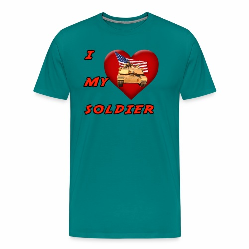 I Heart my Soldier - Men's Premium T-Shirt