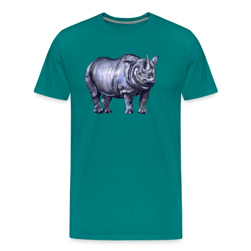 One horned rhino - Men's Premium T-Shirt
