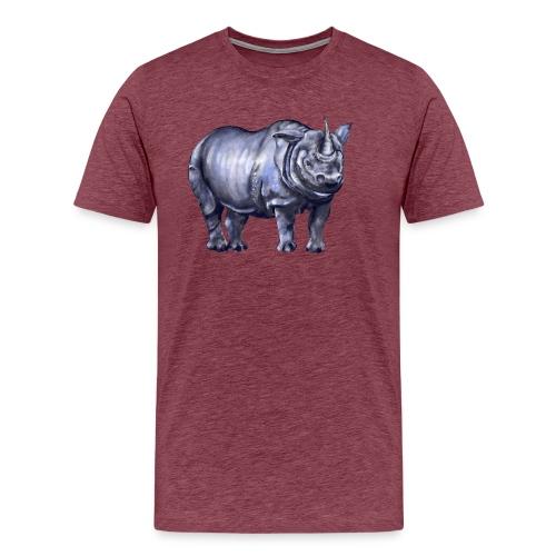 One horned rhino - Men's Premium T-Shirt