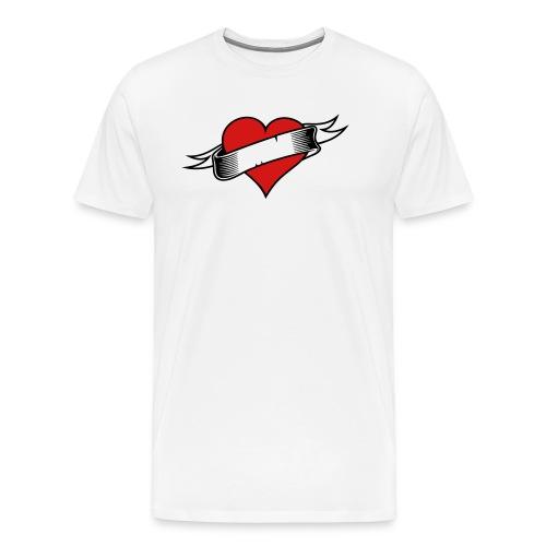 Custom Love Heart Tattoo - Men's Premium T-Shirt