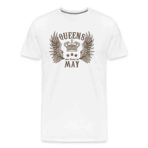 Queens are born in May - Men's Premium T-Shirt