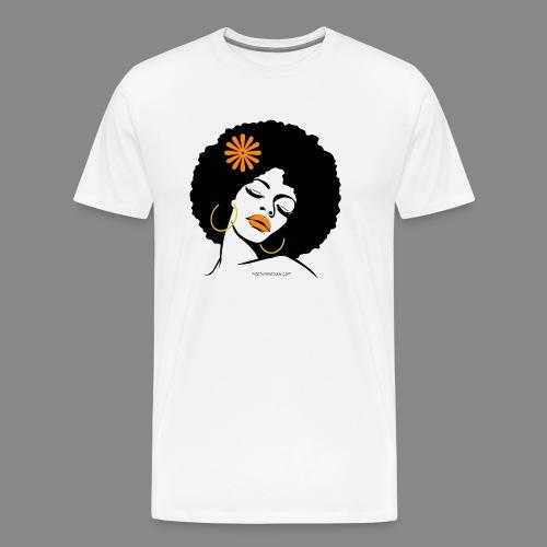 Afro Diva Orange Flower - Men's Premium T-Shirt