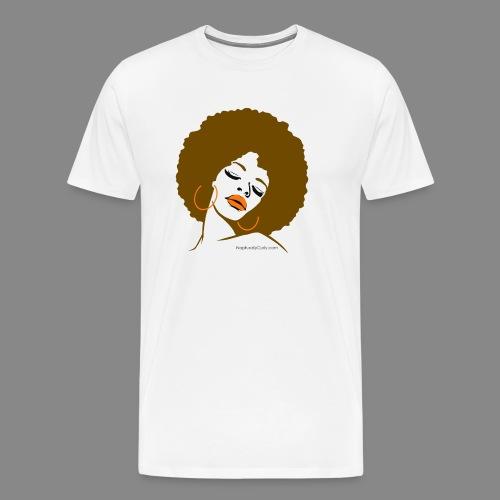 Afro Diva (Brown Hair) - Men's Premium T-Shirt