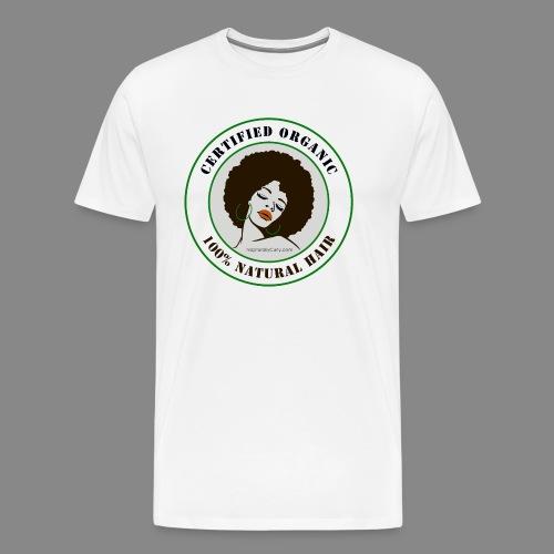 Organic Natural Hair - Men's Premium T-Shirt