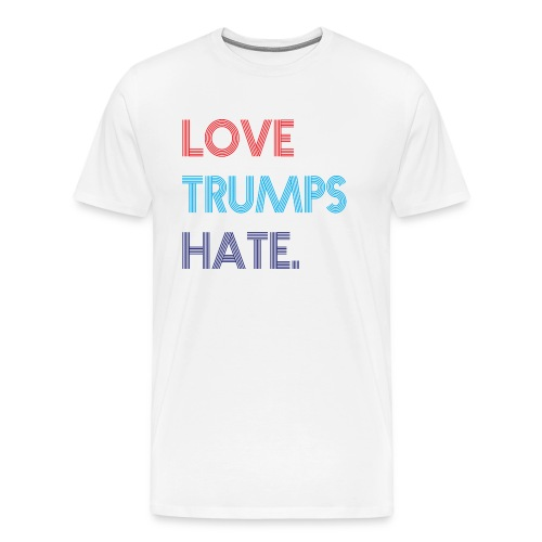 Love Trumps Hate Retro - Men's Premium T-Shirt