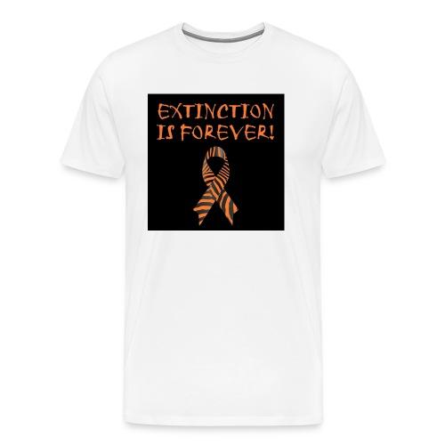 Extinction is Forever awarness logo - Men's Premium T-Shirt