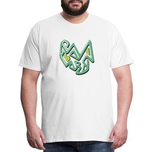 abstract green design - Men's Premium T-Shirt