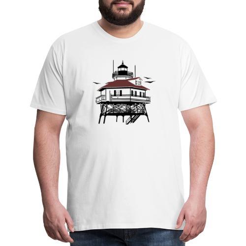 Lighthouse Drawing Illustration - Men's Premium T-Shirt