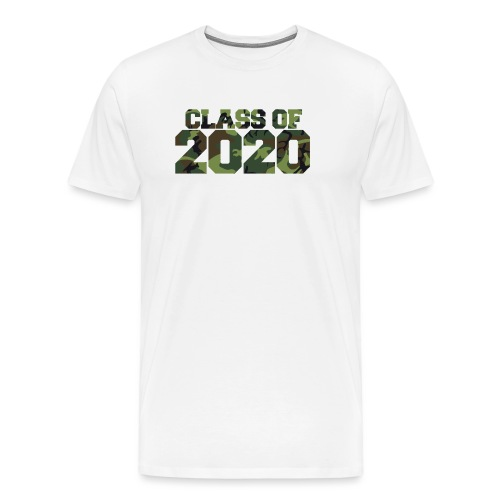 Class of 2020 Camo grad logo - Men's Premium T-Shirt