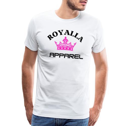 Royalla Apparel Black with Pink Logo - Men's Premium T-Shirt