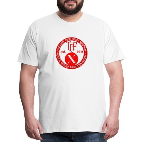 10th Anniversary Medallion - Red Marble - Men's Premium T-Shirt