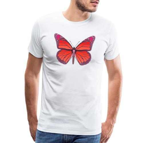 D28 monarch butterfly red lajarindream 4500px - Men's Premium T-Shirt