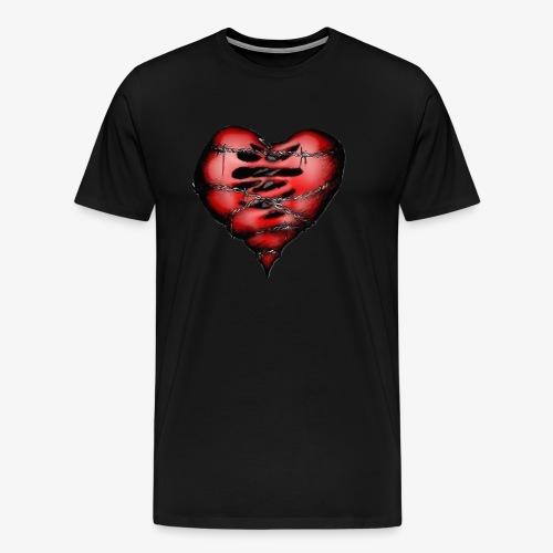 Chains Heart Ceramic Mug - Men's Premium T-Shirt