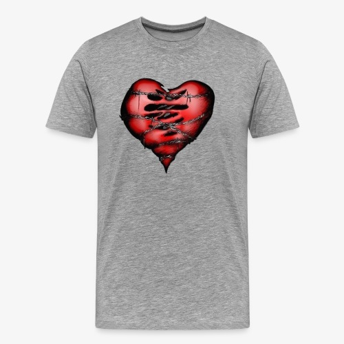 Chains Heart Ceramic Mug - Men's Premium T-Shirt