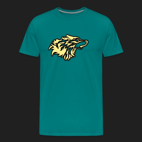 wolfepacklogobeige png - Men's Premium T-Shirt