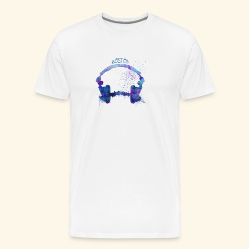 Boston skyline - Men's Premium T-Shirt