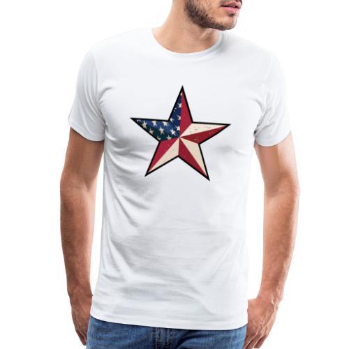 American Patriot Barn Star - Men's Premium T-Shirt