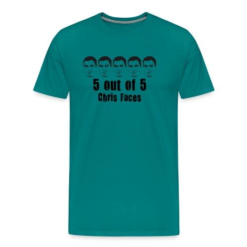 chris faces tshirt black - Men's Premium T-Shirt