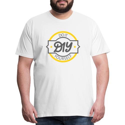 Do It Yourself | DIY | Minimal Badge-like Design - Men's Premium T-Shirt