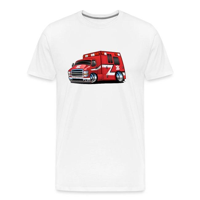 Paramedic EMT Ambulance Rescue Truck Cartoon