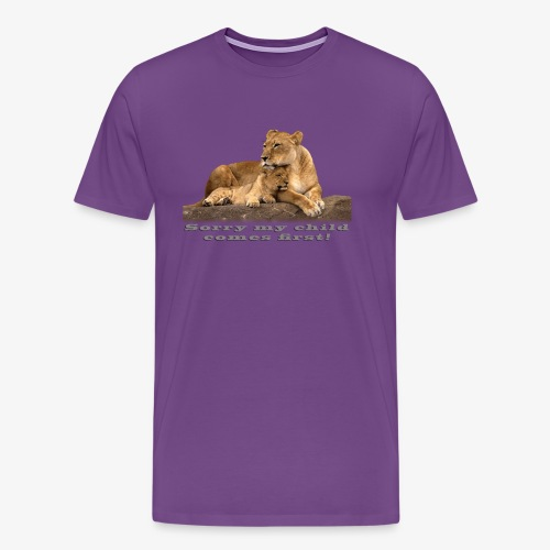 Lion-My child comes first - Men's Premium T-Shirt