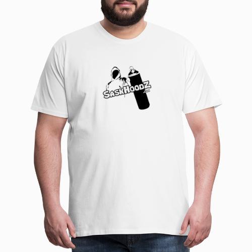 saskhoodz logo black - Men's Premium T-Shirt