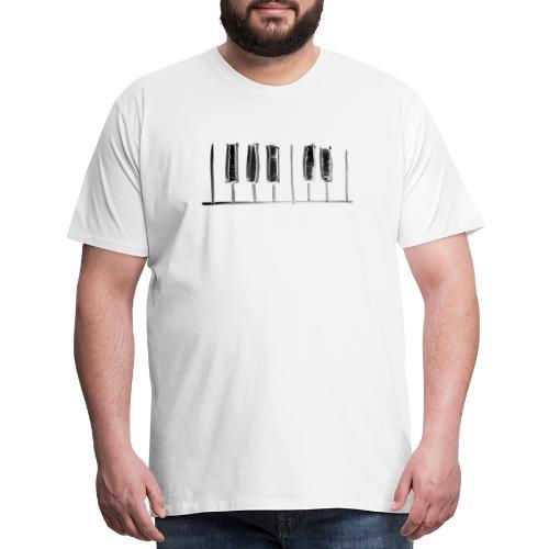 Hand Drawn Minimal Piano Design   Piano Keys - Men's Premium T-Shirt