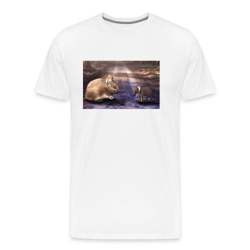 Mouse vs elephant - Men's Premium T-Shirt