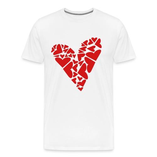 Hearts In Heart Formation, Asymmetrical - Men's Premium T-Shirt