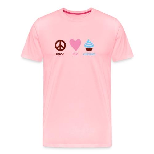 peacelovecupcakes pixel - Men's Premium T-Shirt