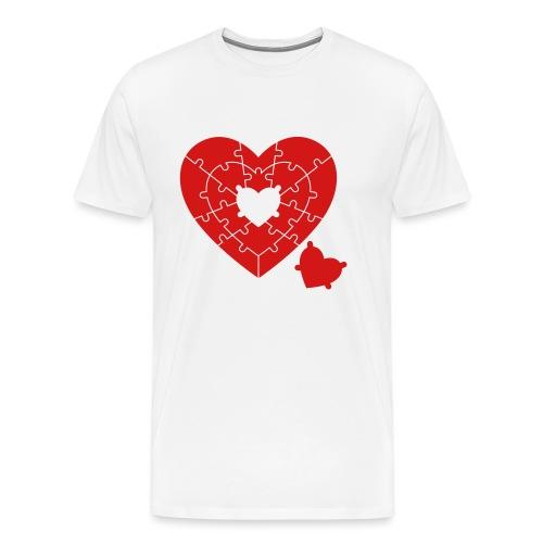 Heart Puzzle - Men's Premium T-Shirt
