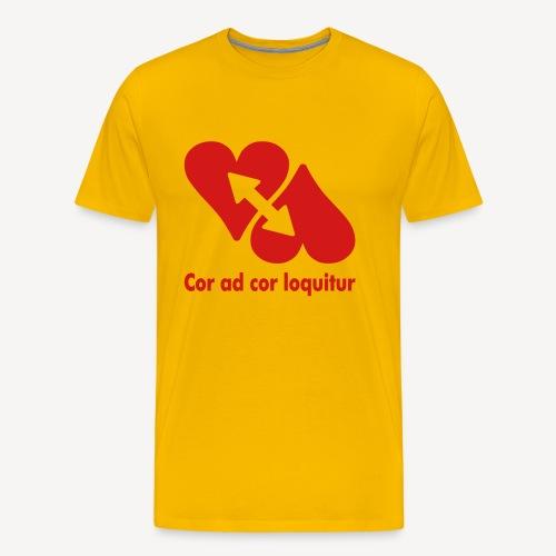COR AD COR LOQUITUR - Men's Premium T-Shirt