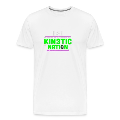Green Kin3ticNation logo - Men's Premium T-Shirt