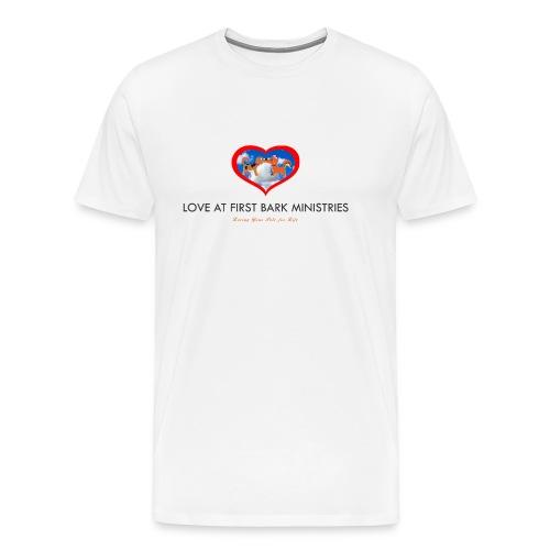 loveatfirstbarklogo - Men's Premium T-Shirt