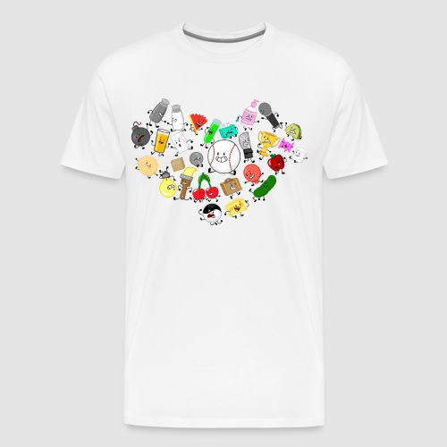 Inanimate Heart Color - Men's Premium T-Shirt