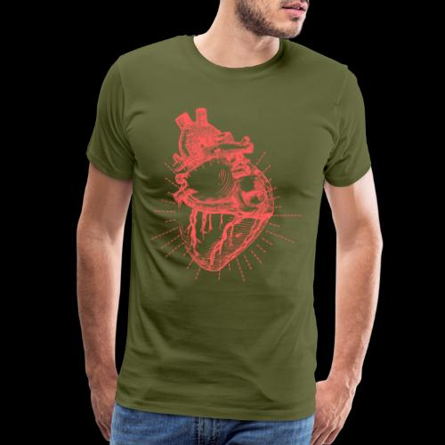 Hand Sketched Heart - Men's Premium T-Shirt
