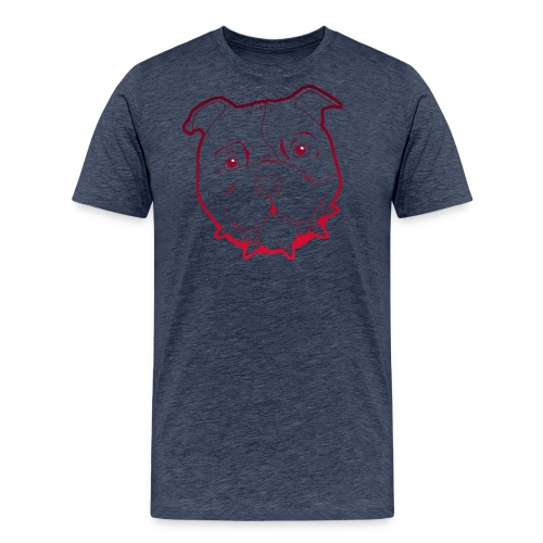 Pit Tee Outline - Men's Premium T-Shirt