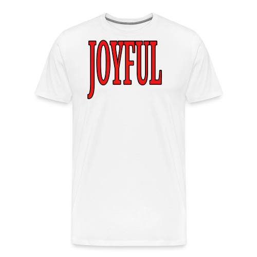 Dave The Cat Big Word Tee! Joyful! - Men's Premium T-Shirt