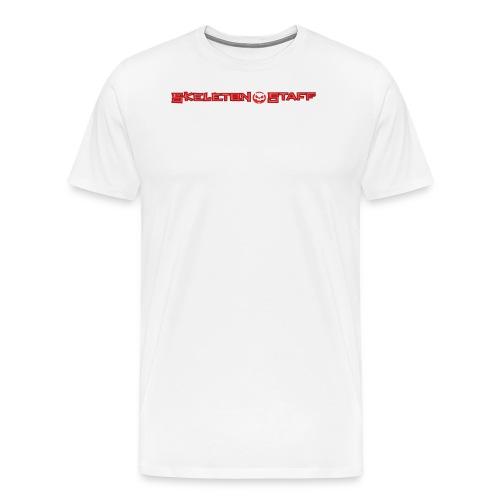 SKELETON STAFF WHITE SHIRT - Men's Premium T-Shirt