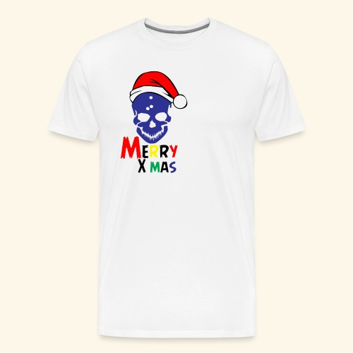 Merry Xmas Skul - Men's Premium T-Shirt