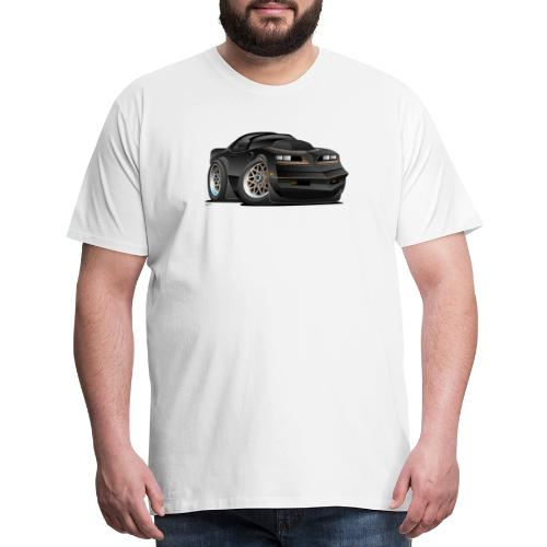 Seventies Classic Muscle Car Cartoon - Men's Premium T-Shirt